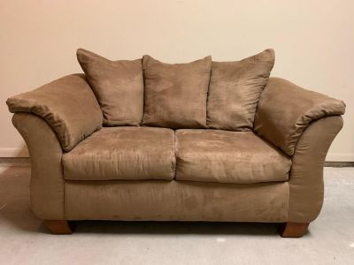Mocha Suede Couch