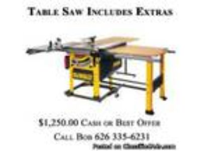New Dewalt Table Saw for Shop Work Only all Extras Included and