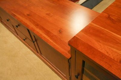 Solid Cherry Flat Panel TV Console
