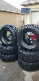 SIX- 35 12.5 r17 iron man all country mud tires hardly used!