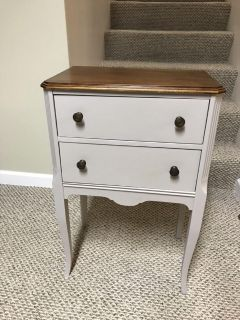 Vintage side table/sewing cabinet