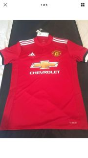 Manchester United 2017/18 Jersey Size Small