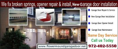 Flower Mound #1 New Garage Door Installation Company | 972-402-5550