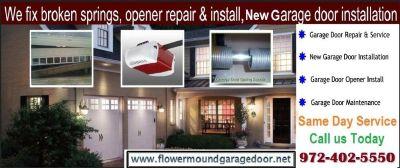 1 hour Instant Garage Door Installation Services $25.95 75022 Flower Mound TX