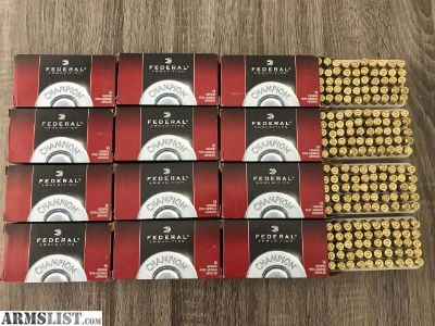 For Sale: Federal Champion 9mm Luger Ammo 115 Grain FMJ Full Metal Jacket - 600 rounds