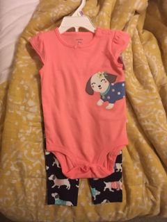 3 NWT baby girl outfits 6-9mos/9mos