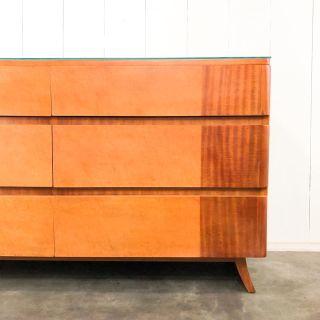 Rway mahogany & birds eye maple dresser credenza