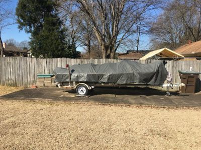 14 Foot John Boat with Trailer