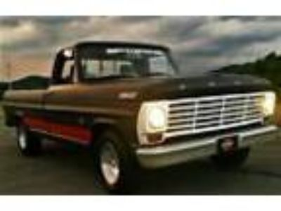 1967 Ford F-100 1967 Ford F 100 Classic Muscle Truck Hot Rod Black Patina Paint