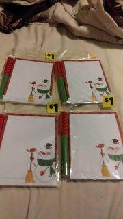 4 pen and note pad sets