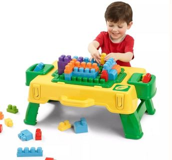 """New"" Crayola Building Blocks 2 in 1 Activity Table"