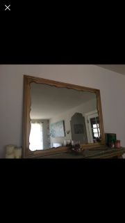 Large sturdy gold mirror