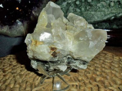 Exceptionally a Beautiful Topaz Crystal Gemstone Cluster