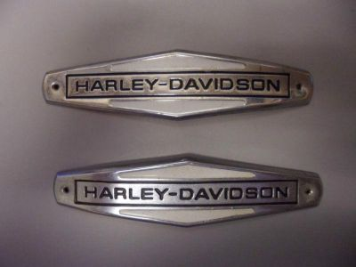 Buy Original Emblems! AMF HARLEY DAVIDSON 1966-71 Fuel Tank Nameplates. OEM 61771-66 motorcycle in Buford, Georgia, US, for US $69.95