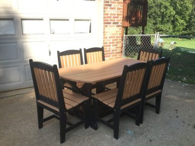 Amish Polyvinyl Patio 6 Piece Set!!! (Outdoor Furniture)