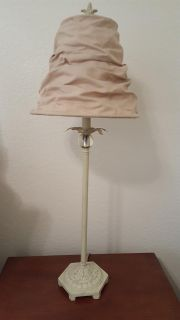 Super charming lamp with stacked cloth lamp shade
