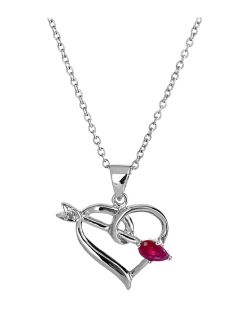 Brand new in box Sterling Silver Heart with arrow Necklace