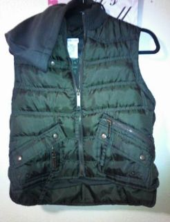 Forest green winter vest