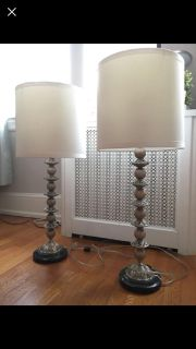 Set of lamps - marble/silver