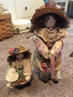 Mother & Daughter Adorable Dolls
