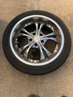 18 rims and tires (set of 4, all matching)