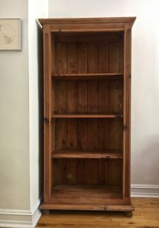 Large and Deep Detailed Pine Bookcase