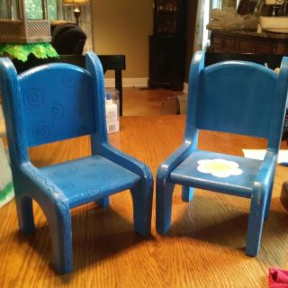 All wood chairs for american girl sized dolls