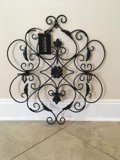 New Safavieh Wall Art Collection Black Ivy Leaves Candle Holder
