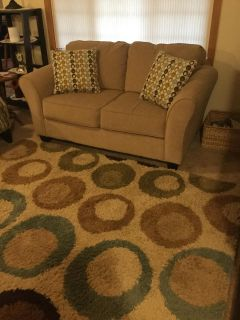 Love Seat $100 and Area Rug $35 (both for $110)