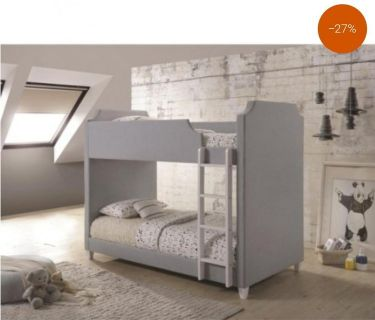GREY TWIN OVER TWIN BUNK BED FREE DELIVERY