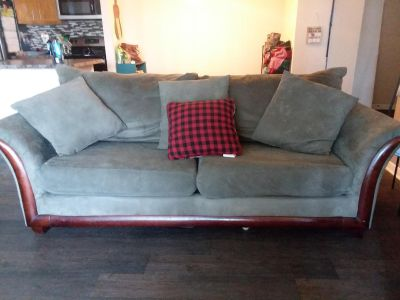 Moving! Comfy microfiber green couch