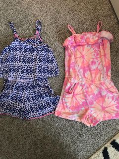 Girls 6/6X rompers