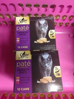 24 cans of Sheba pate' lot