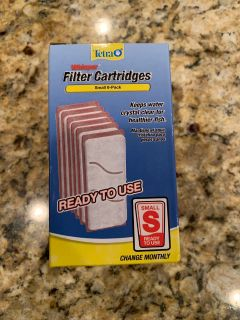 NIB-Tetra Whisper Filters-Small-6 pack