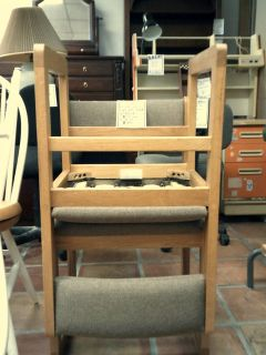 Wood chair with cloth seat and back