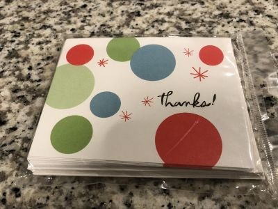 New thank you cards with envelopes - new - sealed