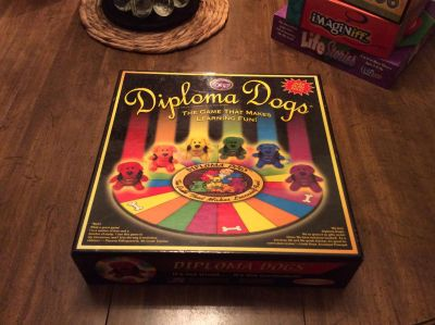 Diploma Dogs * for Ages 8 and up, challenging for Adults* Object of the game- Win the game, earn your Diploma and have fun learning