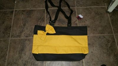 New yellow shoulder bag