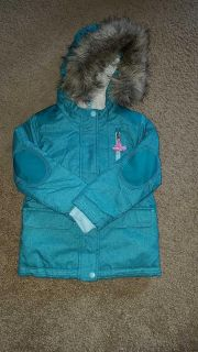 Cat & Jack winter coat with removable fur hood trima