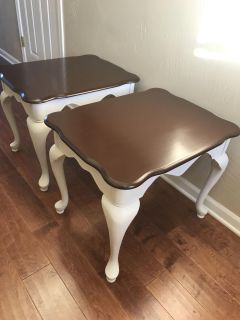 Pair of refinished side tables