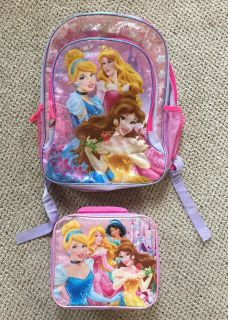 Princess backpack and lunch pack