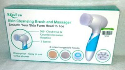 NEW SkinFun Skin Cleansing Brush and Massager