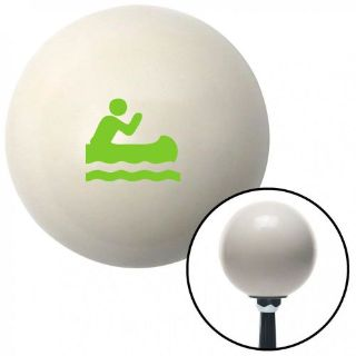 Find Green Guy Paddling Canoe Ivory Shift Knob with 16mm x 1.5 Insert 7.3 2 din motorcycle in Portland, Oregon, United States, for US $29.97
