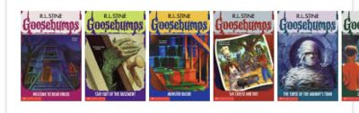 Looking for Goosebumps books or DVDS