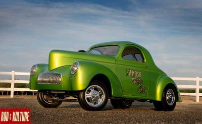 WILLYS GASSER SHOW CAR WEST COAST FRESH BUILD COVER CA