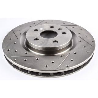 Purchase JEGS Performance Products 632060 HP Drilled & Slotted Brake Rotor motorcycle in Delaware, Ohio, United States, for US $104.99