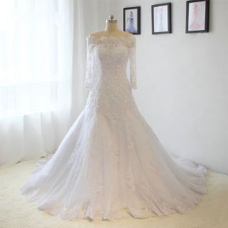 Carol's Lace A Line Wedding Dress