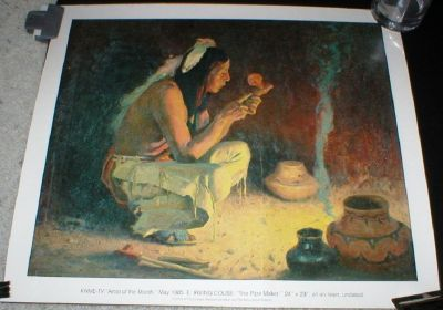 The Pipe Maker Art Print - E. Irving Couse Artist of the Month KNME-TV 1985