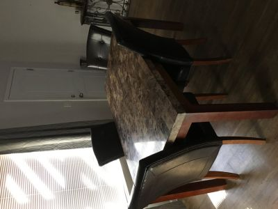 Marble Tile Dining Room Table