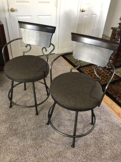 Beautiful 24 Barstools . Basically Brand New. Had them for 3 months. Maybe sat on them 6 times